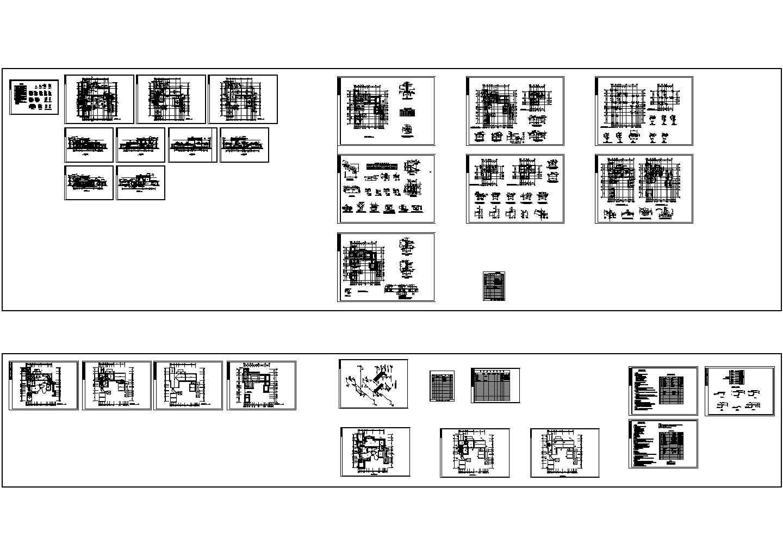 二层仿古别墅建筑结构施工设计cad图,共一张图片1