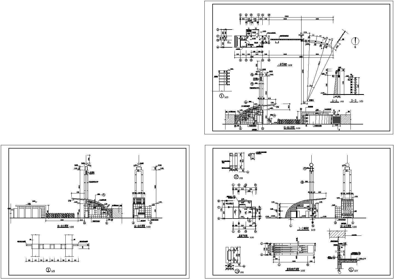 中学大门建筑设计图片1