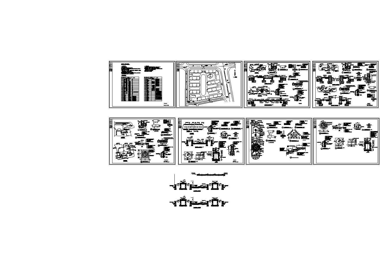 花园绿化CAD建筑设计施工图(含植物材料表)图片1