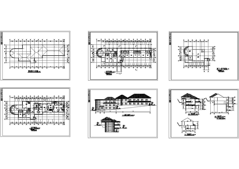 黑龙江某招待所建筑方案图(含效果图)图片1