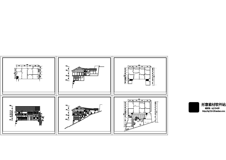 山地别墅装修方案设计建施cad图纸图片1