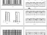 某高层板式住宅楼设计立剖面图图片1