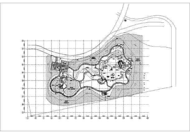 日本式园林景观设计cad图,共1张-图一