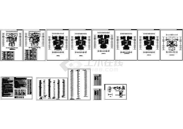 最新整理的高层住宅楼采暖、防排烟图纸全套CAD设计图-图一
