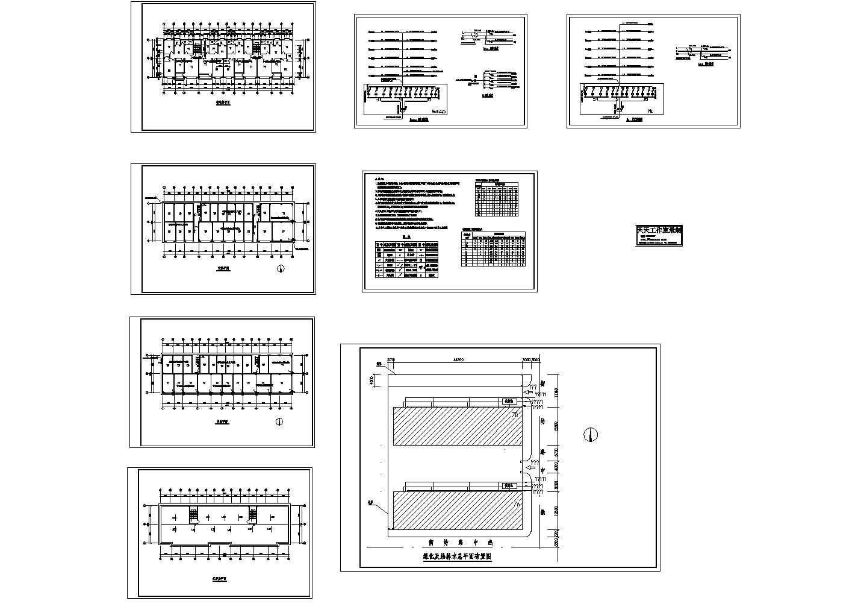 多层住宅楼电气平面图,共8张图片1