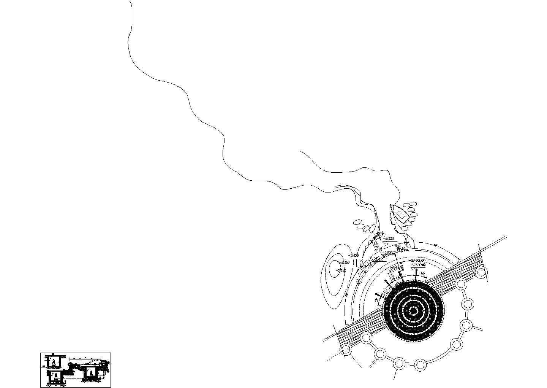 平台跌水剖面CAD详图图片1