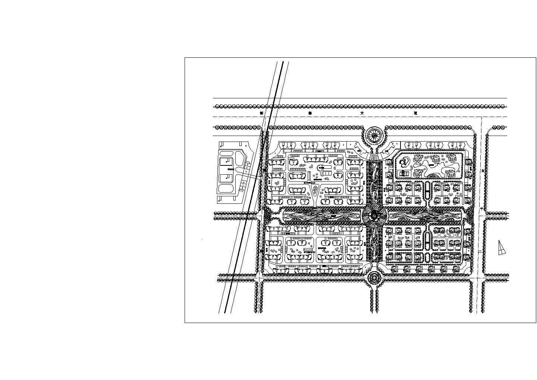 蜀都新城规划总平面cad图,共1张图片1