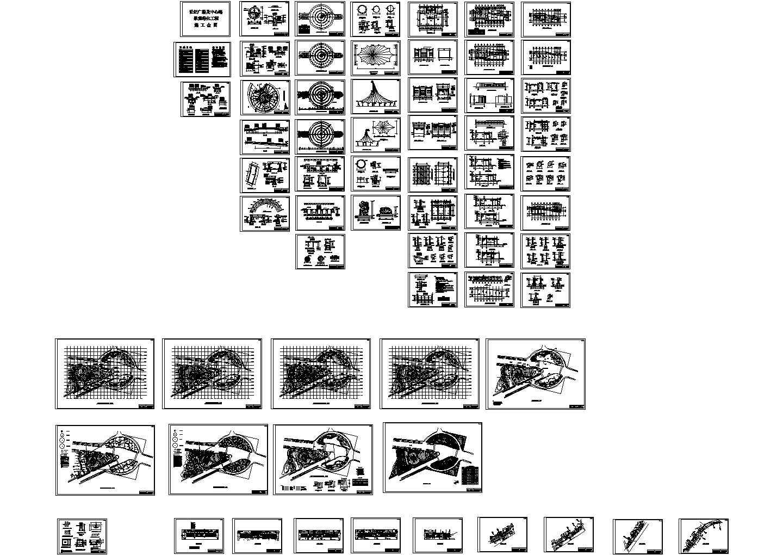 世纪广场及中心路景观规划设计CAD施工图图片1