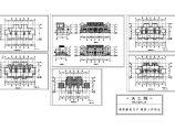 联排别墅建筑施工设计cad图,共6张图片1