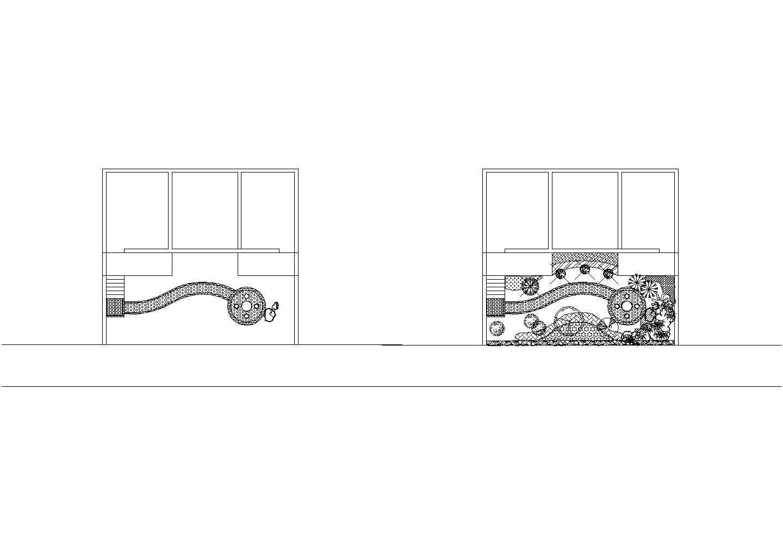 庭院景观规划设计CAD施工图图片1