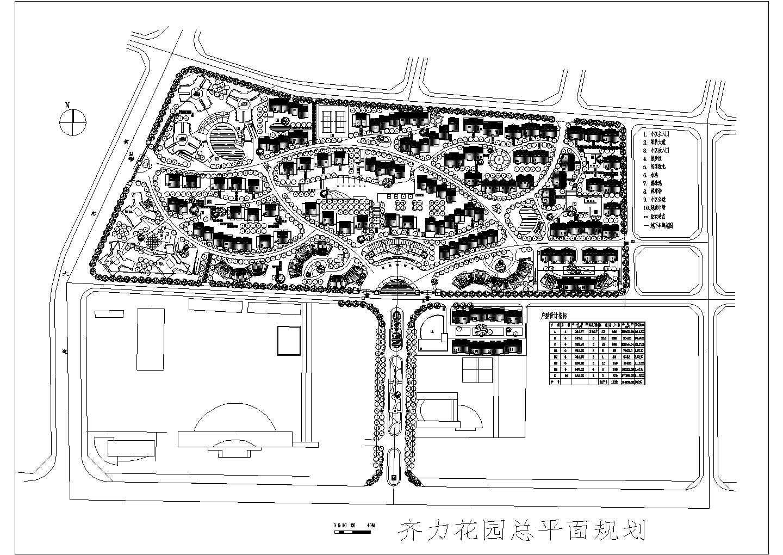 齐力花园小区规划设计方案图图片1