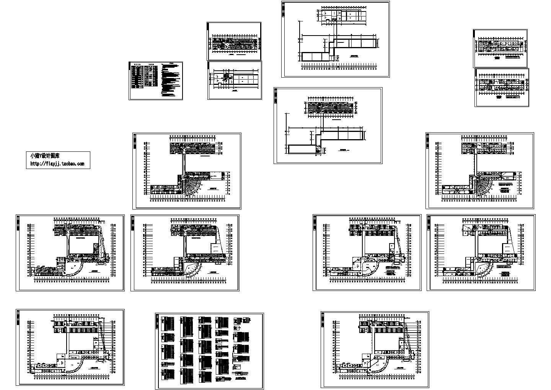 局部6层医院综合楼电施设计cad图,含施工说明图片1