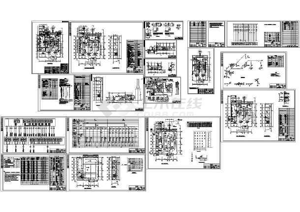 非常全面的药厂锅炉房CAD设计施工图-图一
