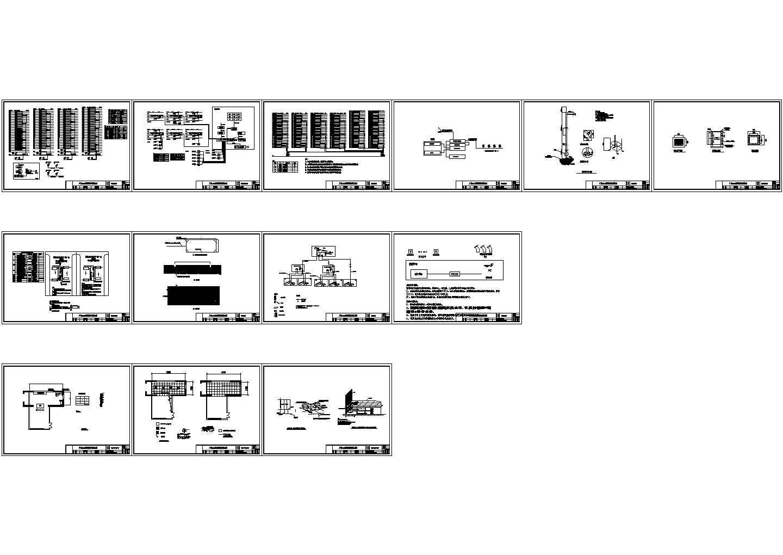 最新小区整套弱电智能化系统图纸(楼宇对讲、监控、广播、停车场、机房、电子巡更、立杆、管井)图片1