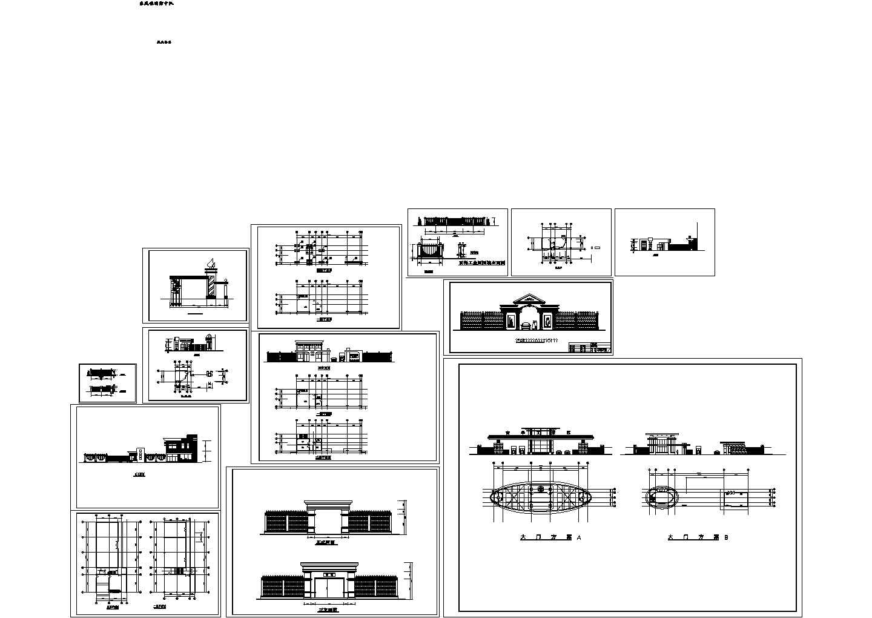 某8种大门建筑设计方案图图片1