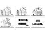 3层4932平米某外国语学校中学部食堂建筑方案设计图图片1