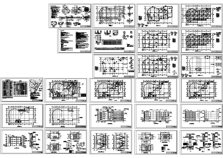 四层剪力墙结构别墅建筑结构施工图纸(含设计说明)图片1
