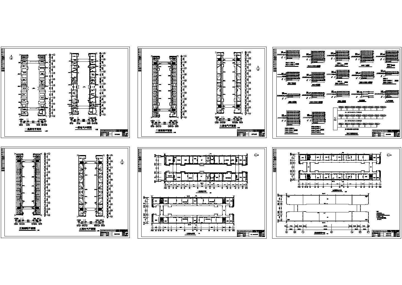 某三层厂房电气施工设计图图片1