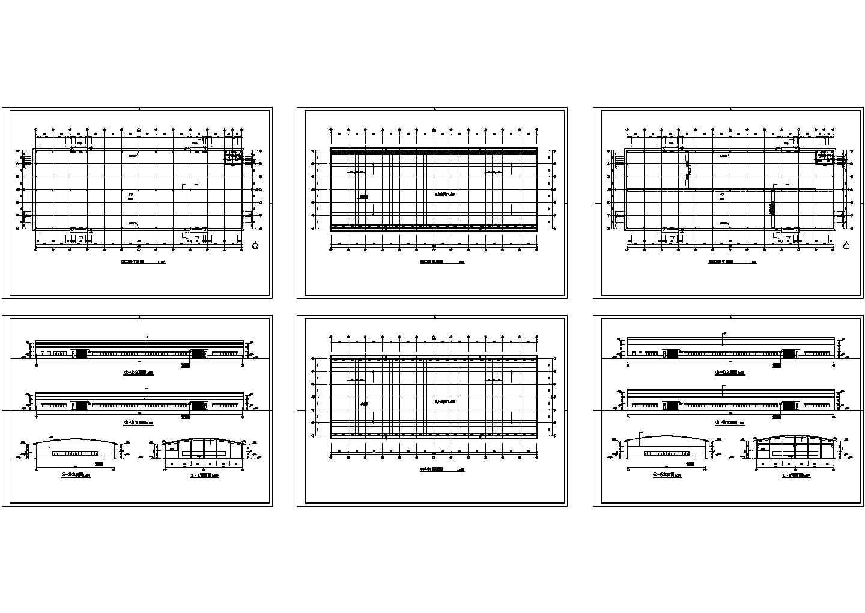 长96米 宽36米 单层工业厂房车间建筑方案设计图图片1