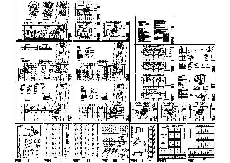 -1+27层V型商住楼给排水设计图(长81米 宽70米)图片1