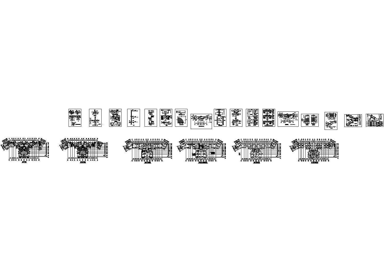 某小高层建筑工程量计算表及图纸图片1