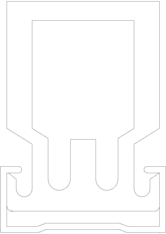 主龙与副龙骨连接件CAD详图图片1