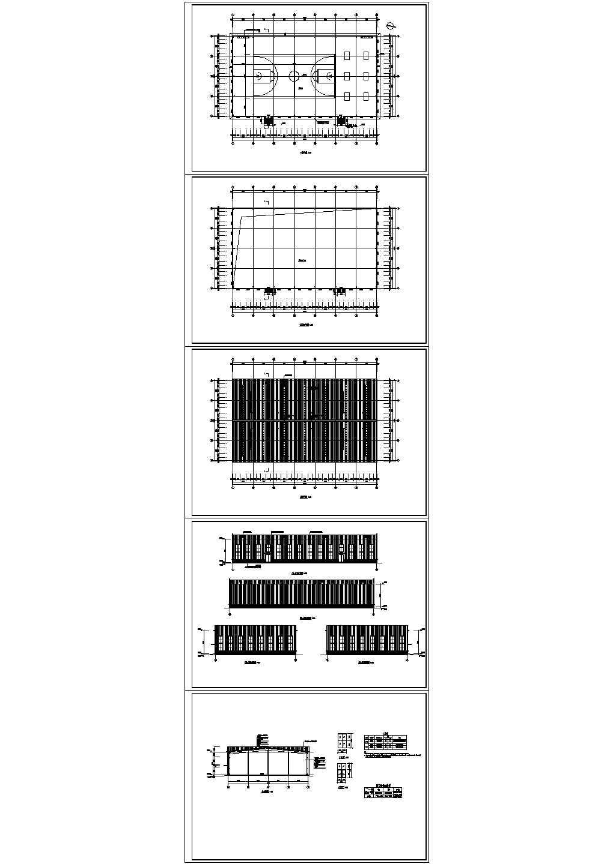 某中学篮球馆建筑设计图纸图片1