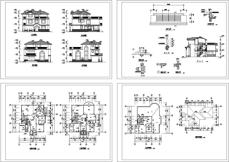 某独立别墅建筑图图片1