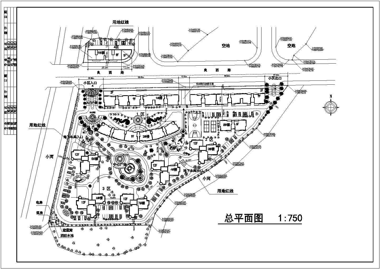某小高层住宅区规划建筑设计施工图图片1