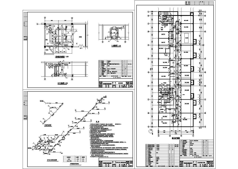 某公寓综合楼人防地下室暖通设计cad施工图(含设计说明)图片1