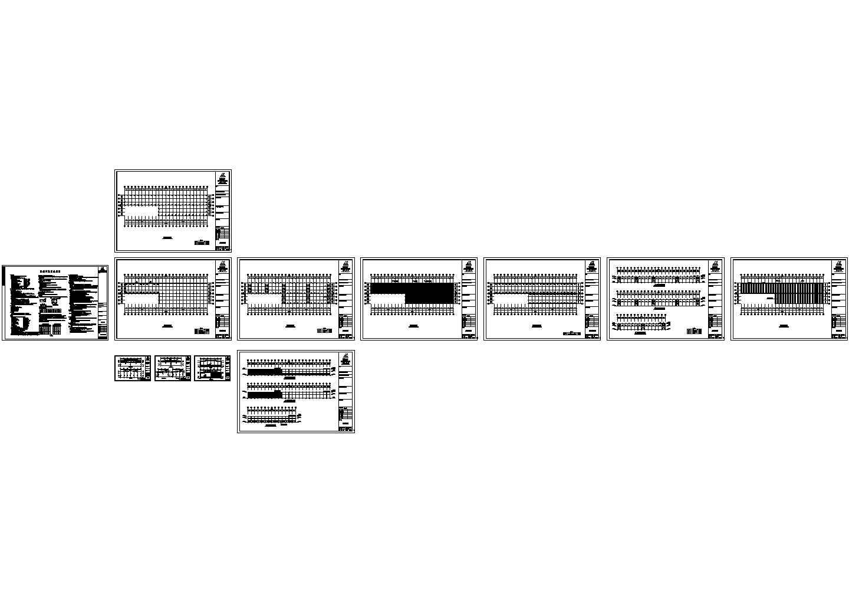 单层单山双跨门式刚架厂房钢结构设计施工图(含设计说明)图片1