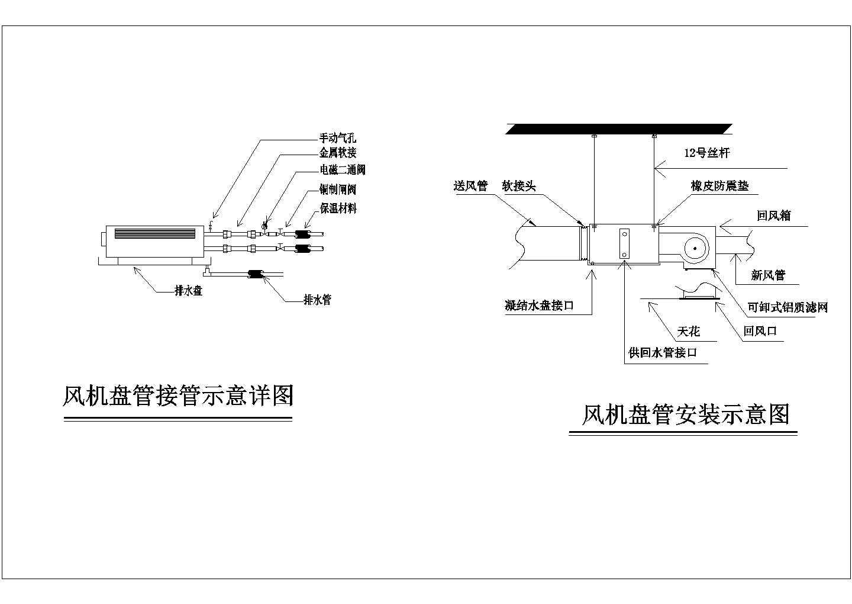 风机盘管安装示意详图图片1