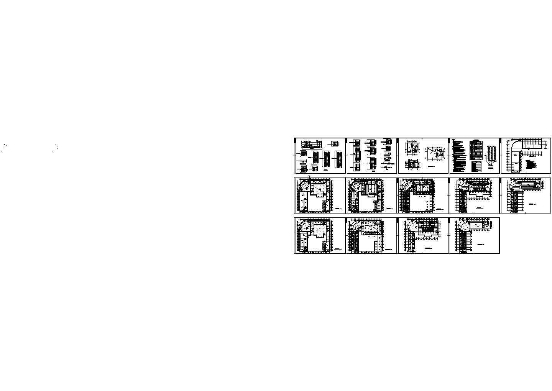 某4层9779平方米汽车综合楼电气施工图图片1