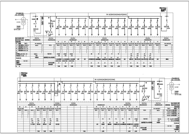 低压配电系统图新块CAD图图片1