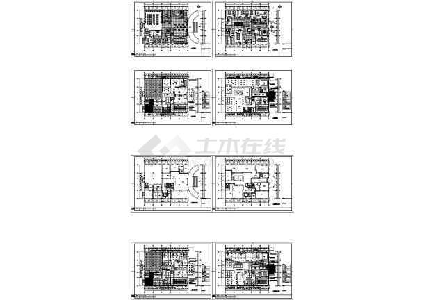 某三层可人集团办公大楼施工图(带效果图)-图一