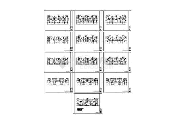 某六层住宅楼电气照明设计布线图-图一