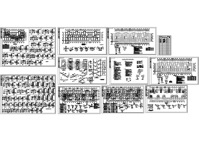 7层砖混住宅楼建筑结构设计图( 长52米 宽16.65米)图片1