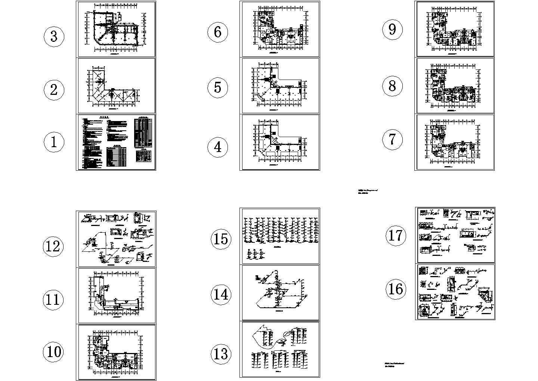 -1+7层L型商住楼给排水设计图( 长44.2米 宽32.4米)图片1