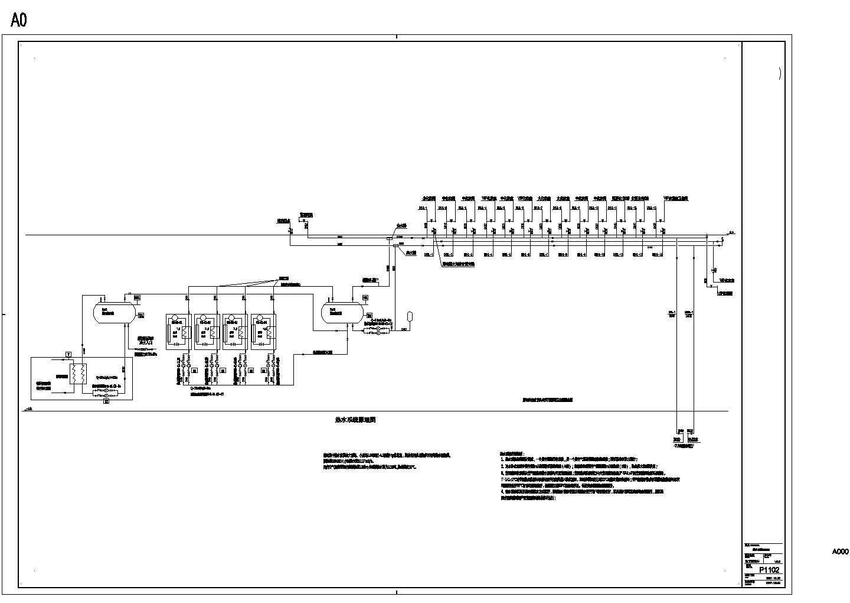 P1102热水系统原理图,含设计说明图片1