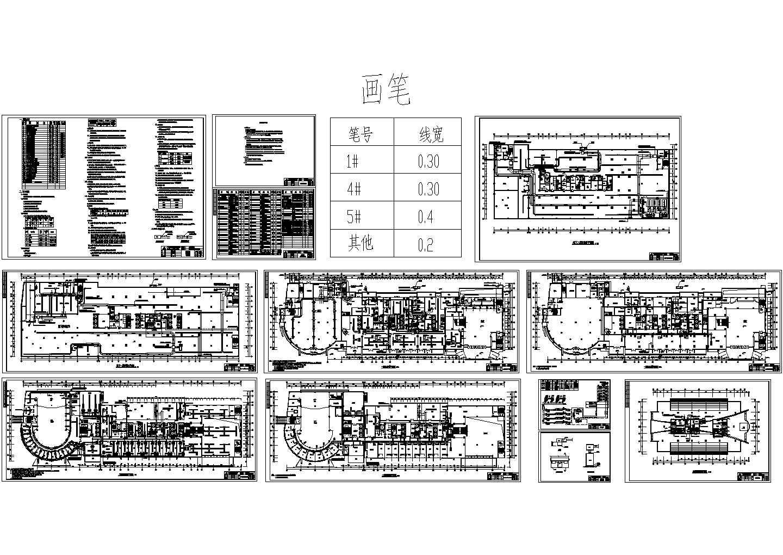 某五星宾馆全套空调通风系统设计cad施工图(含设计说明)图片1