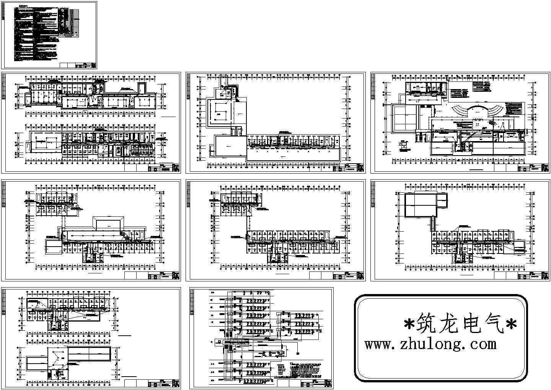 [云南]某1.7万平八层酒店电气消防系统施工图纸(标注明细)图片1