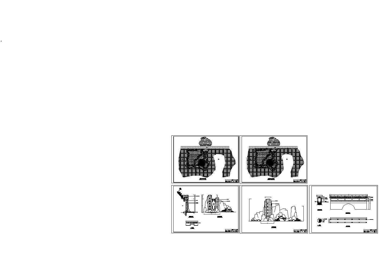武乡景点规划平面设计cad图,共5张图片1