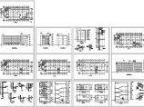 四层办公楼建筑施工cad图,共十三张图片1