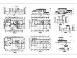 三层办公楼建施cad图,共十一张图片1