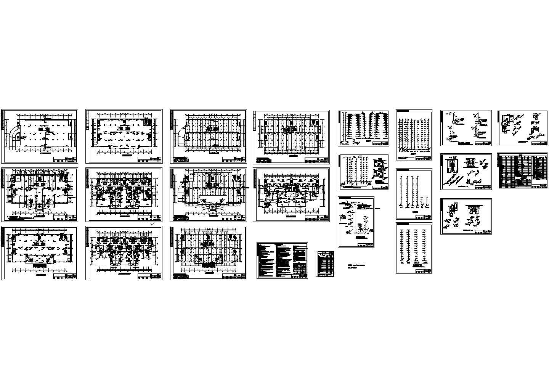 -1+13层商场单身公寓楼给排水设计图(长63米 宽32米)图片1