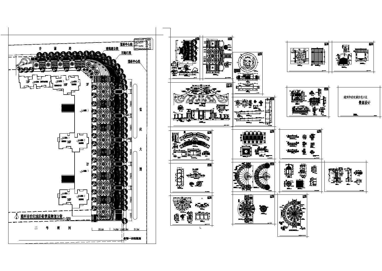 住宅小区景观CAD建筑设计施工图图片1