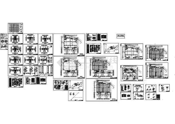33层3栋塔式住宅楼给排水设计图(长31.8米 宽29.6米)-图一