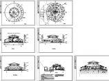 2层圆形经典中餐厅建筑方案设计图图片1