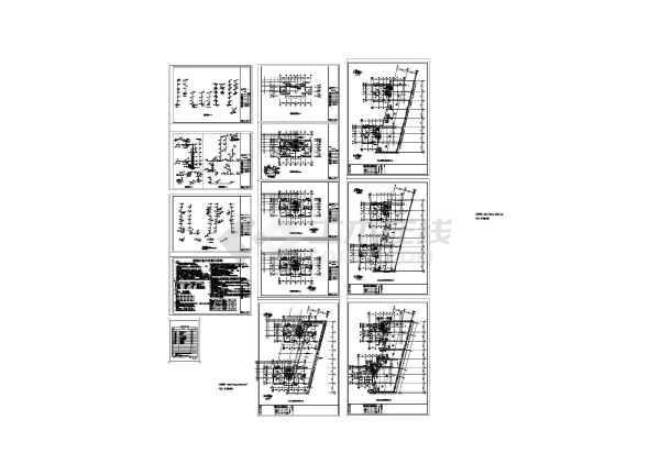 5+1层塔式住宅下嵌两层商铺楼给排水设计图(长51.65米 宽32.7米)-图一