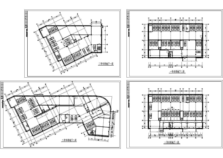 某小区地下车库平面方案图图片1
